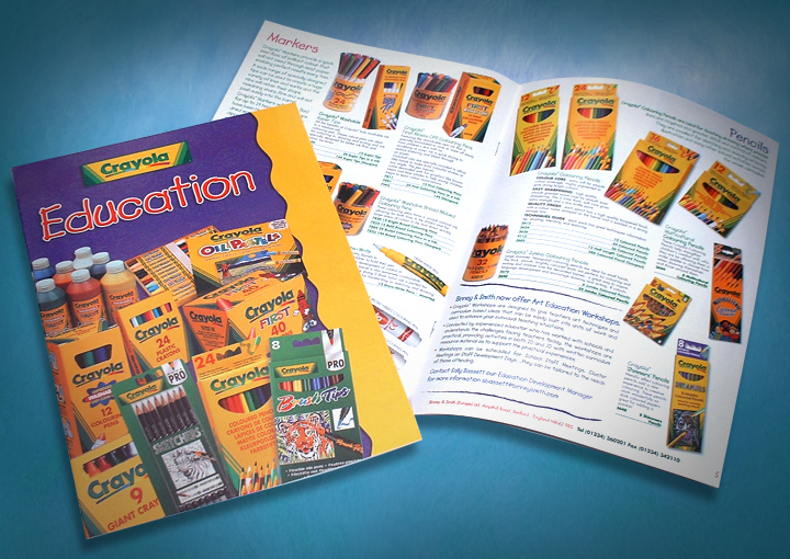 catalogue design and print, Crayola Catalogue design, catalogue design company, catalogue design leicester, catalogue designers manchester, buxton graphic design