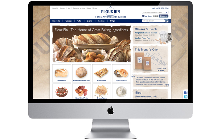Food retailer ecommerce website design and build