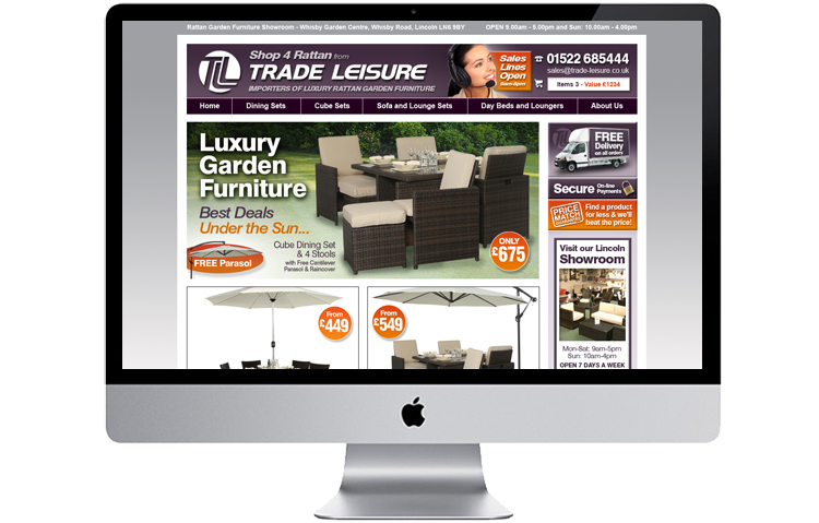 Furniture retailer website design sheffield, derby web designs, chesterfield web designs, sheffield website designer, website designer peak district