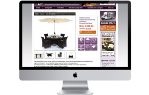 Outdoor furniture retailer website design e-commerce