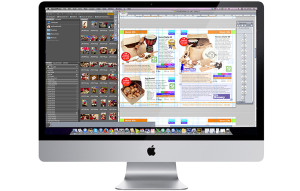 Catalogue page design on a mac