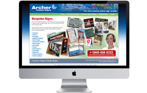 Signs bespoke ecommerce website design Nottingham, Nottinghamshire