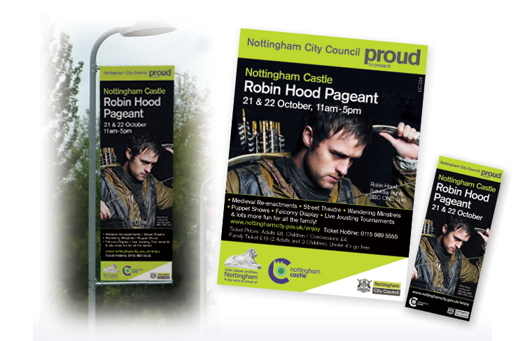 lamp post banner design and print, banner design nottingham, large banner print, large banner design company