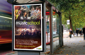 Nottingham Music School 6 sheet poster design, poster design Peak District, website design peak district, graphic design company