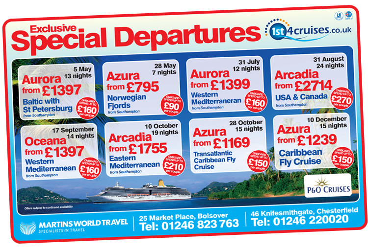 magazine design company chesterfield, cruise advert designers, graphic design sheffield, ad designers