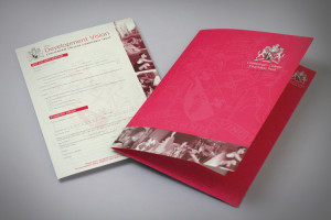 school folder design, school prospectus design derbyshire, school brochure design company