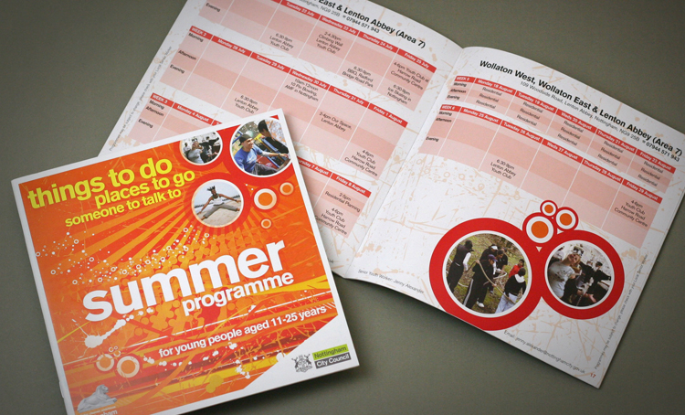 brochure design nottingham, brochure design company, activity brochure design, public sector graphic design