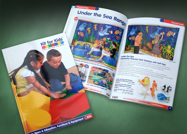 school catalogue design company, catalogue design company, kit for kids catalogue designers
