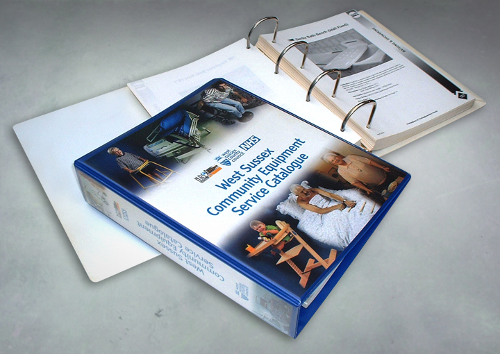 West Sussex Primary Healthcare Trust 400 page, ring bound catalogue