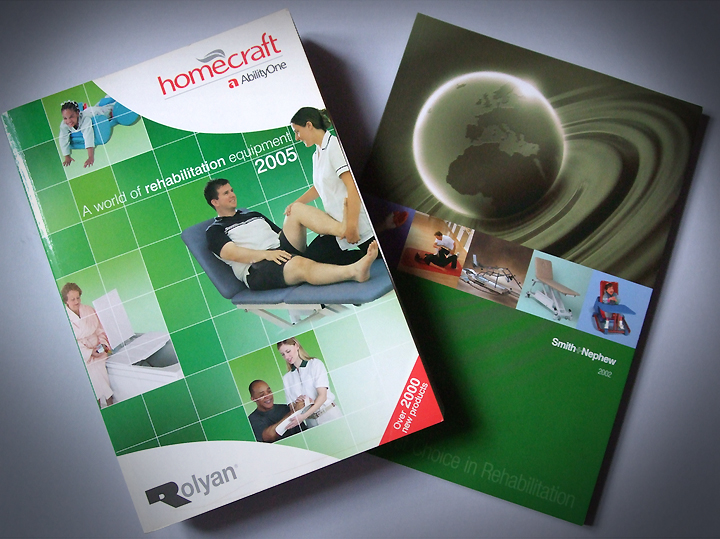 Smith & Nephew and Homecraft perfect bound A4 catalogues