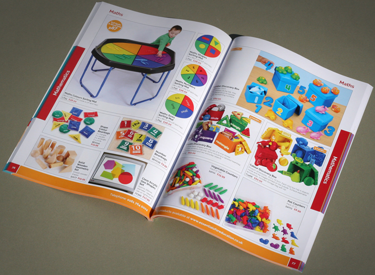 early years catalogue design, catalogue designers for early years, school catalogue experts