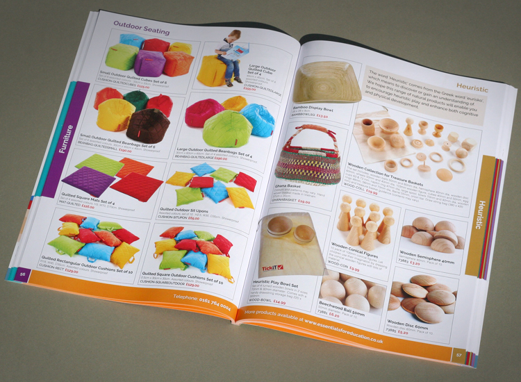 Education catalogue design, catalogue print experts, school catalogues, nursery catalogue printers