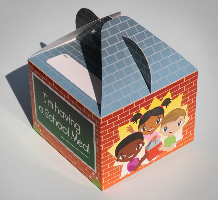 school packaging, packaging design sheffield, pack design, cardboard design, school illustration, lunchbox design