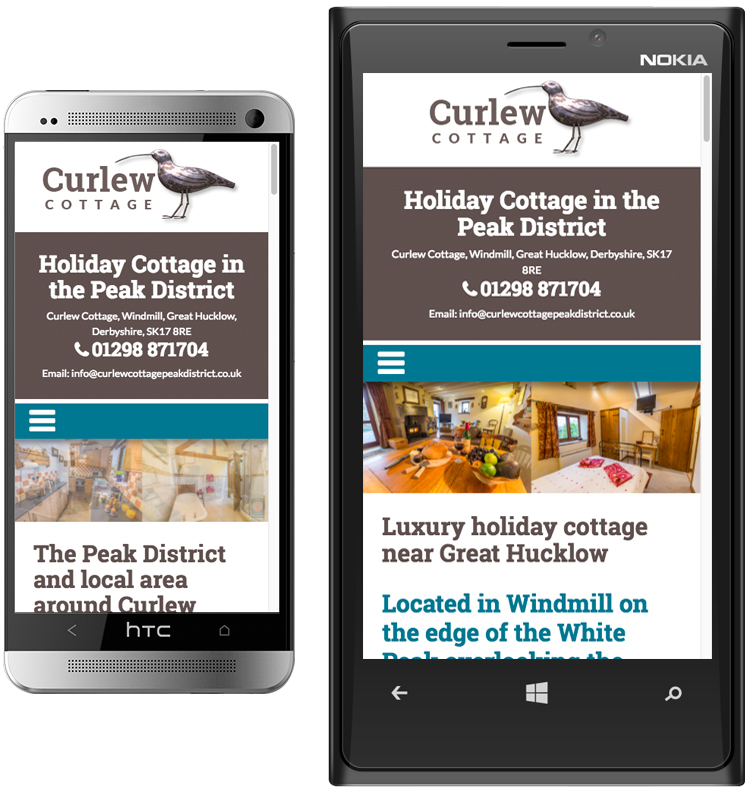 responsive holiday cottage web designers, peak district web design, graphic design hathersage, hope valley website design, great hucklow web design