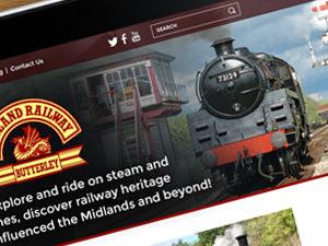 steam railway website design derbyshire, nottingham steam railway website design, web design butterley