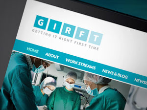 Website design for NHS, GIRFT website designers, responsive web design peak district