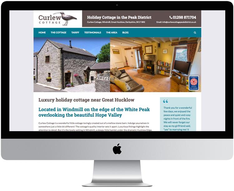 peak district website designers, web design peak district, holiday cottage websites