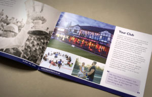 Sports club brochure print, brochure design for tennis clubs, tennis brochure designers