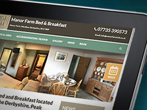website designers for bed and breakfasts, website design peak district