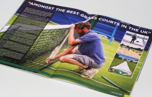 grass court tennis design