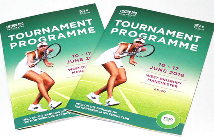 Tennis programme design and print