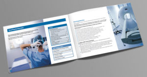 NHS brochure designer, Healthcare brochure design