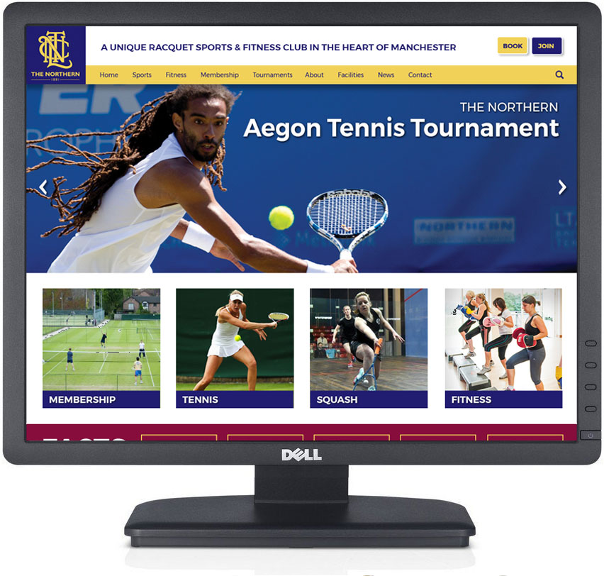 Northern Tennis Club Website design manchester