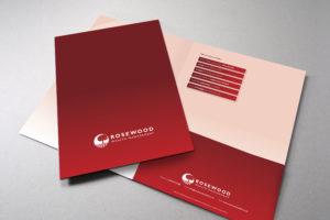 Presentation folder design, presentation folder print
