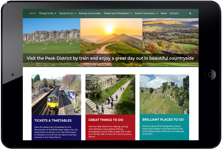 website design peak district