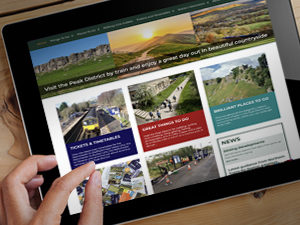 Peak District by train website